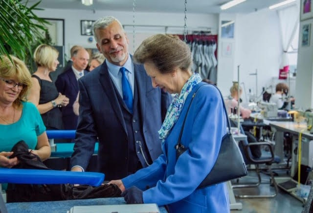 The Princess Royal visits Gosha London Limited