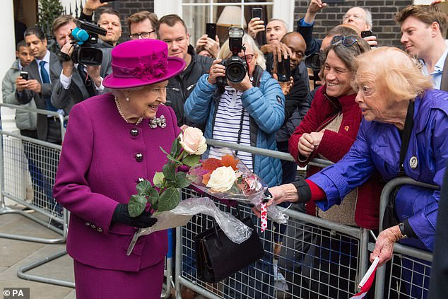 The Queen and The King of Norway attends a reception at the Naval and Military Club