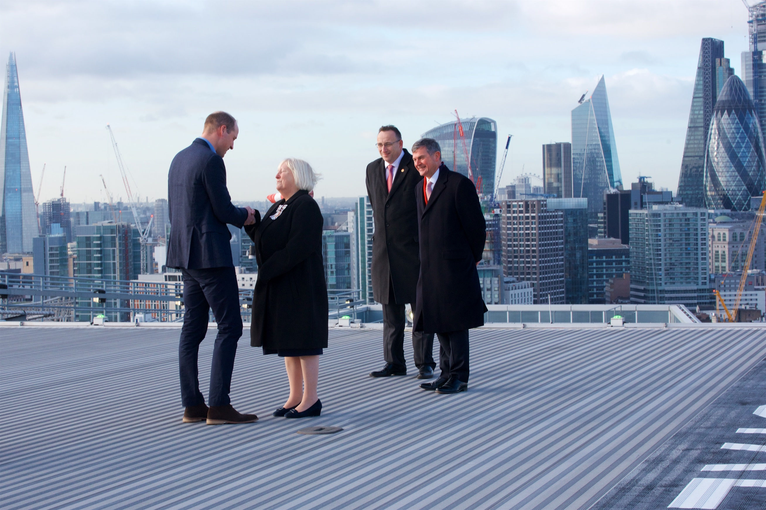 The Duke of Cambridge visits London's Air Ambulance