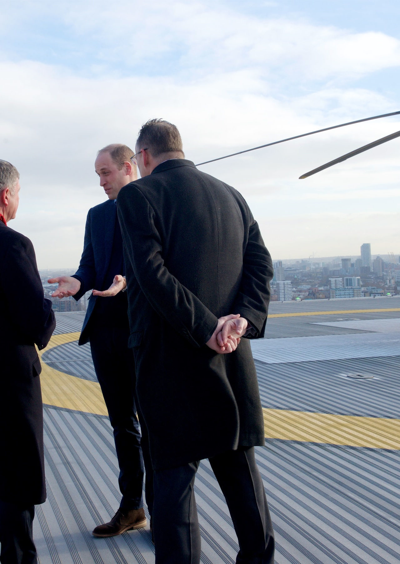 The Duke of Cambridge visits London's Air Ambulance