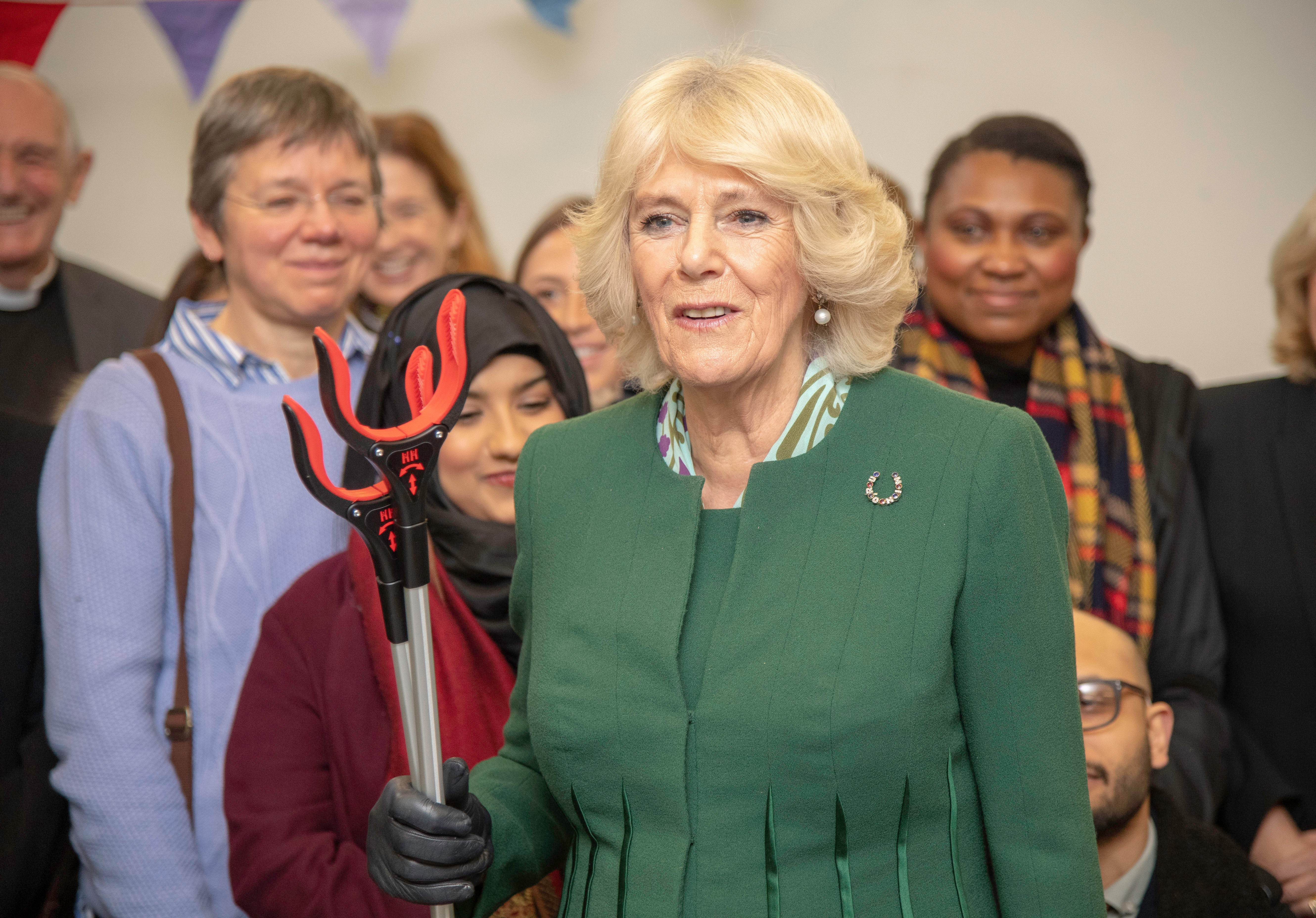 The Duchess of Cornwall met members taking part in the Litter Pick