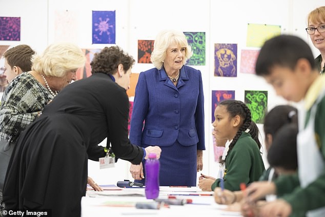 The Duchess of Cornwall visits the Clore Education Centre