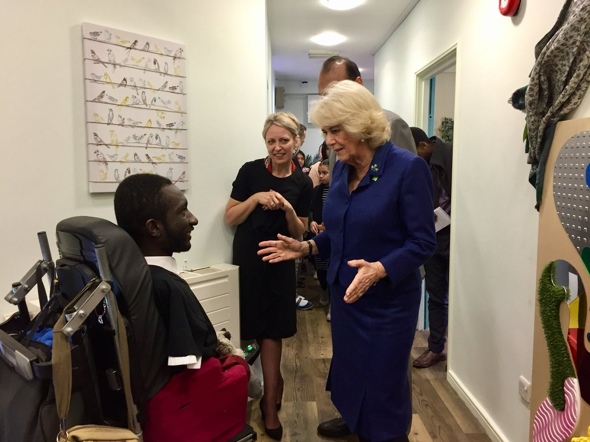 The Duchess of Cornwall visits the Well Being Hub
