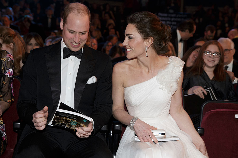 The Duke and Duchess of Cambridge attends the British Academy Film Awards