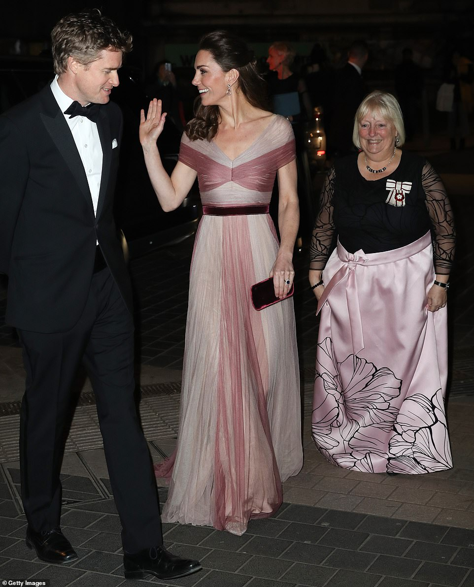 The Duchess of Cambridge attends a Gala Dinner given given by 100 Women in Finance