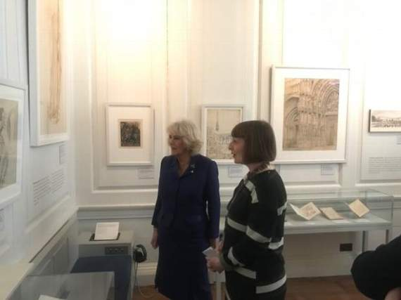 The Duchess of Cornwall visits The William Morris Gallery