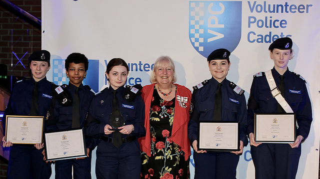 Vice Lord- Lieutenant presents Volunteer Police Cadets Awards