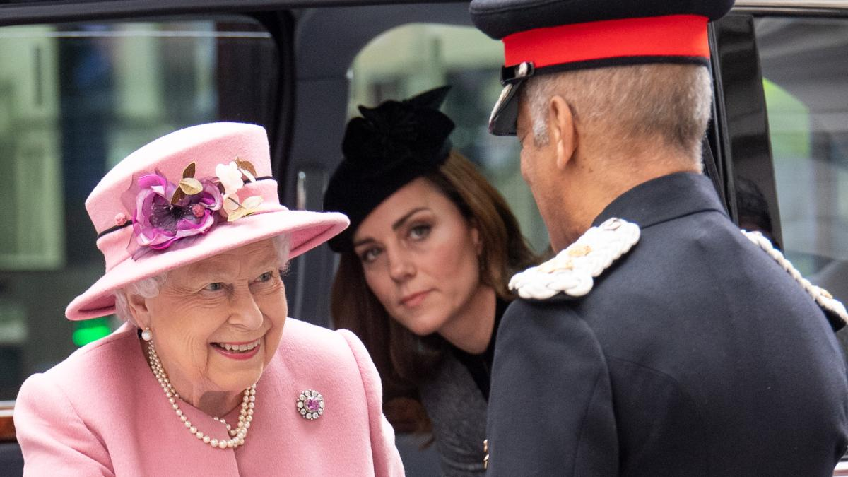 HM the Queen and The Duchess of Cambridge opens Bush House