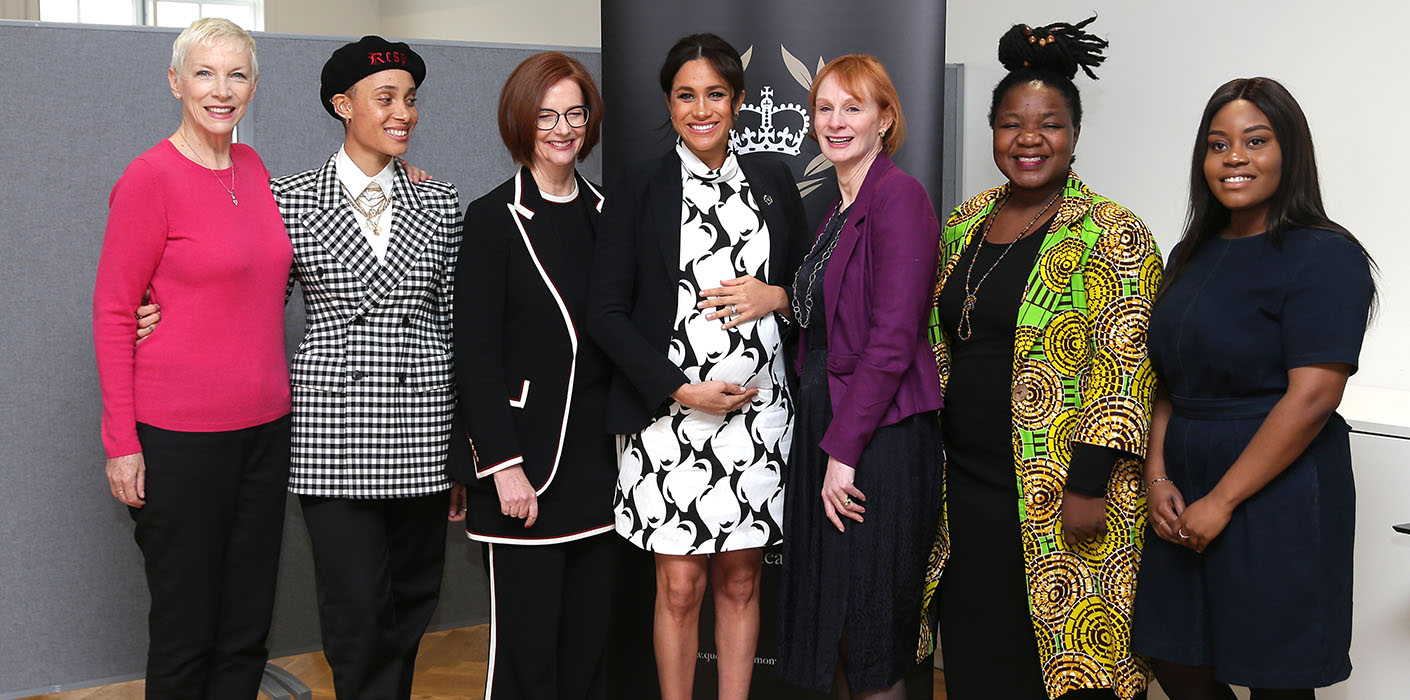 The Duchess of Sussex attends a Queen's Commonwealth Trust Panel Meeting to mark International Women's Day