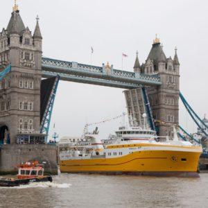 20190424 - UK Fisheries Vessel Kirkella arrives at Greenwich