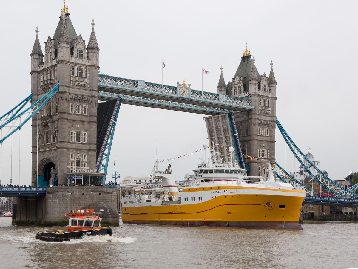 The Princess Royal names the UK Fisheries Vessel Kirkella