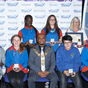 The Jack Petchey Foundation Achievement Awards 2019 for Girlguiding Croydon in the presence of The Worshipful, the Mayor of Croydon Cllr. Humayan Kabir. At The BRIT School on Monday 23rd September 2019.