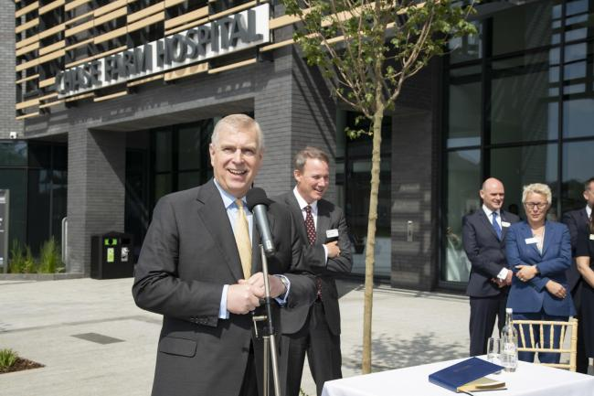 The Duke of York opens Chase Farm Hospital in Enfield