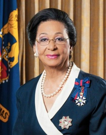 The Governor General of The Bahamas arrives in the UK