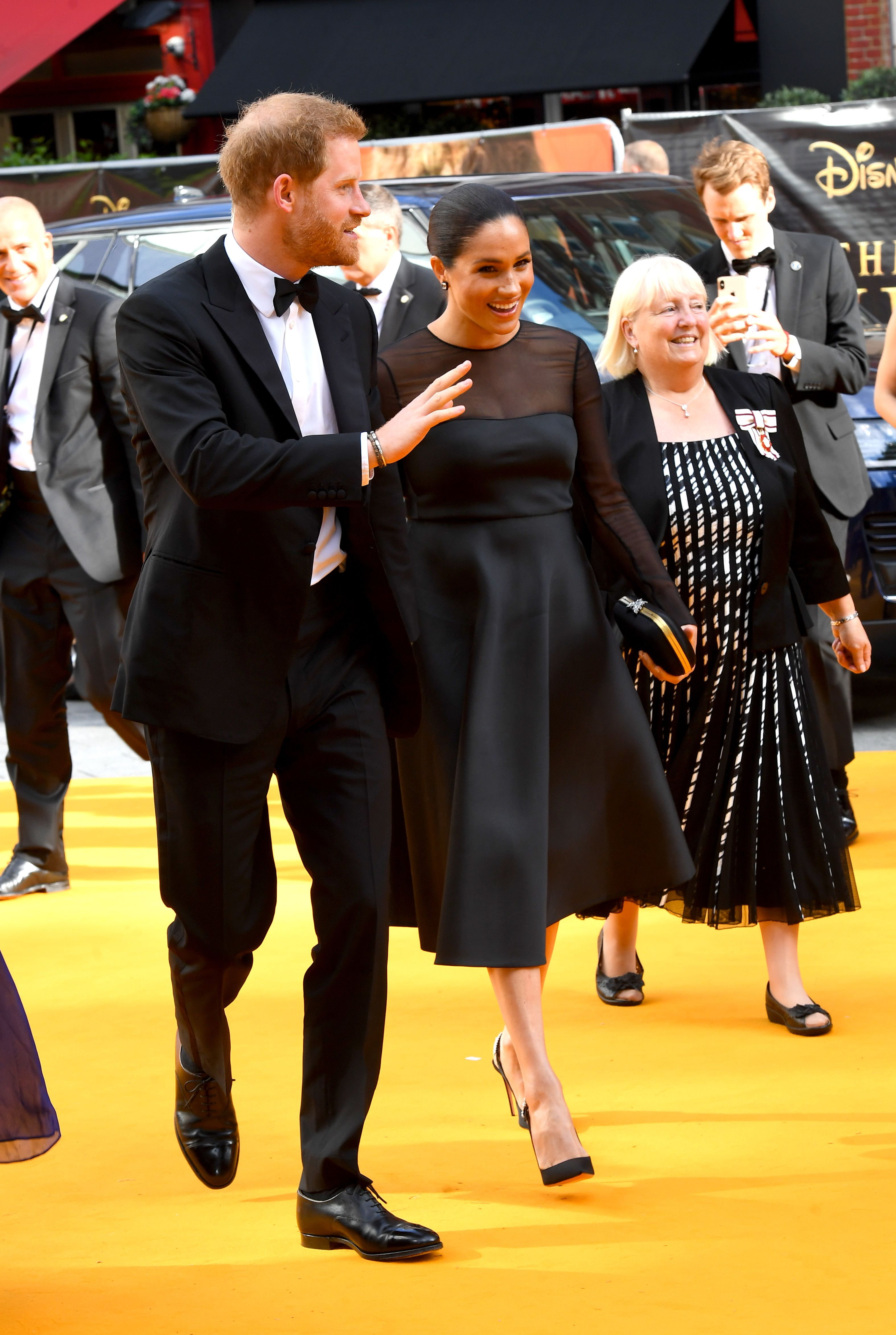 The Duke and Duchess of Sussex attend The Lion King Premiere in Leicester Square