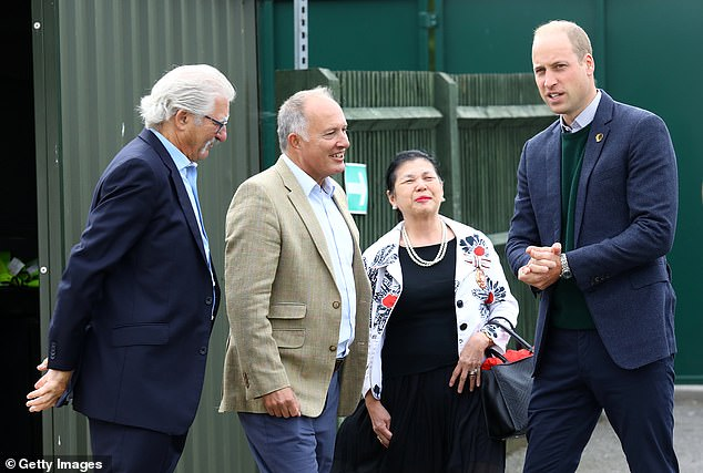 The Duke of Cambridge learns about Hendon Football Club's mental health work