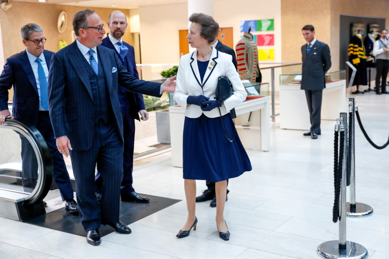 The Princess Royal attends a Reception for Henry Poole and Company at Coutts