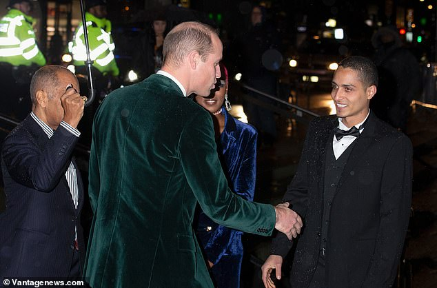 The Duke of Cambridge this evening attended the Centrepoint's Fiftieth Anniversary Gala Dinner