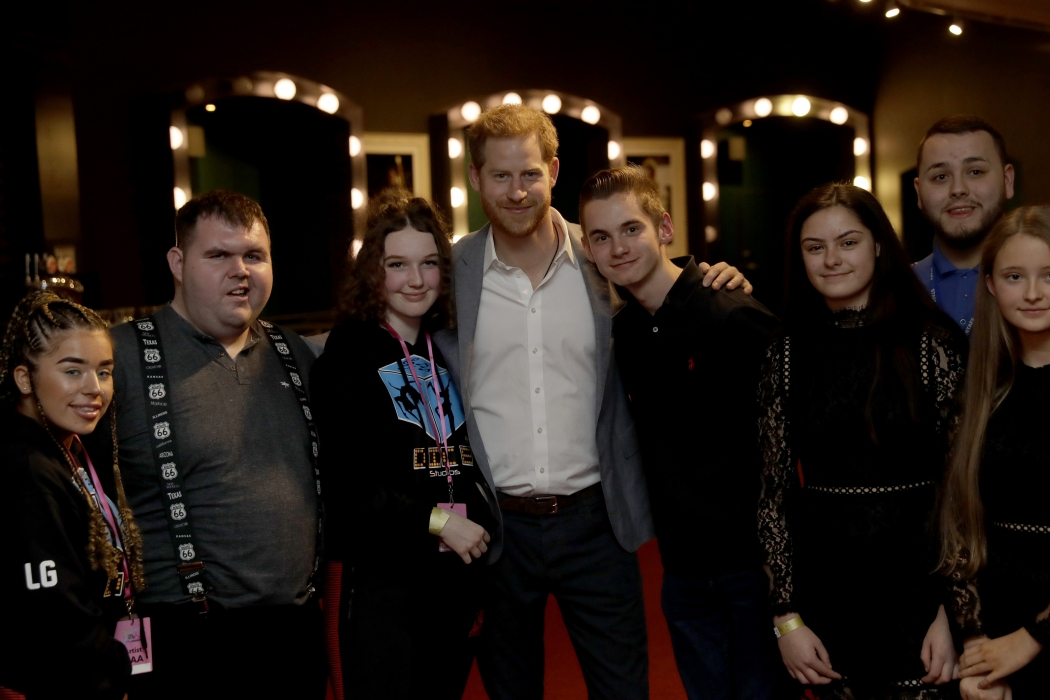 The Duke of Sussex this afternoon attended the OnSide Awards at the Royal Albert Hall