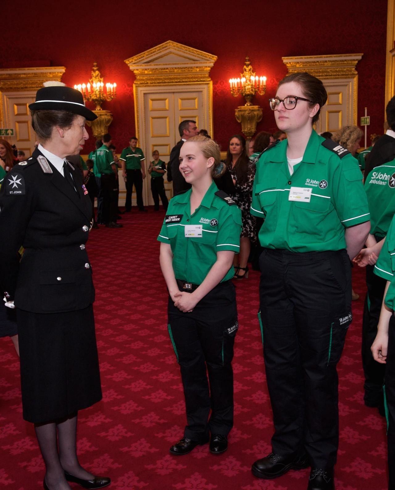 Her Royal Highness this afternoon attended a St. John Ambulance Young Achievers' Reception