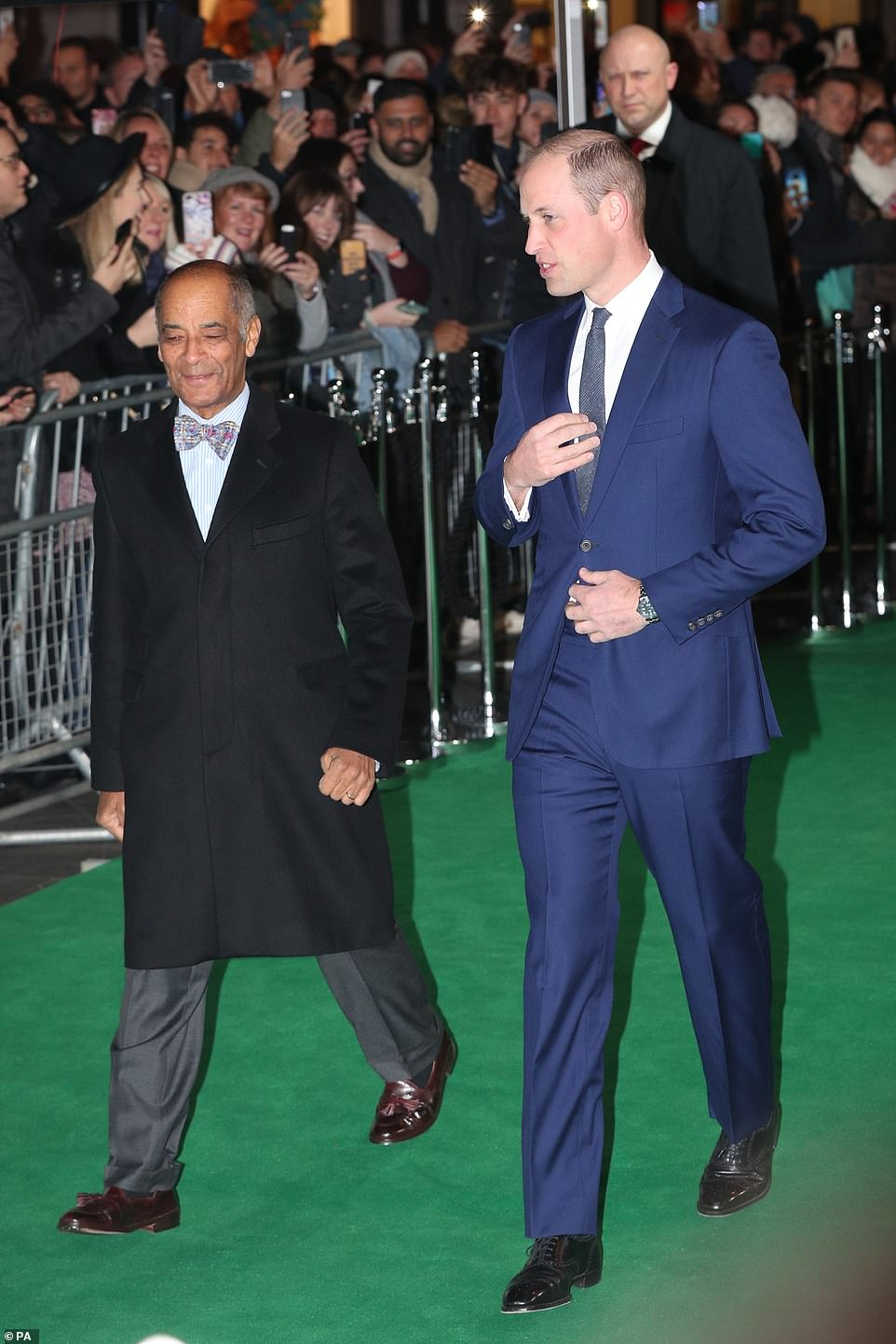 The Duke of Cambridge attends Tusk Trust Awards at Empire Theatre