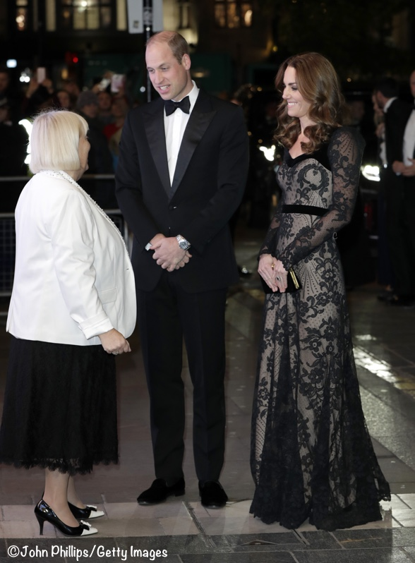 The Duke and Duchess of Cambridge this evening attended the Royal Variety Performance
