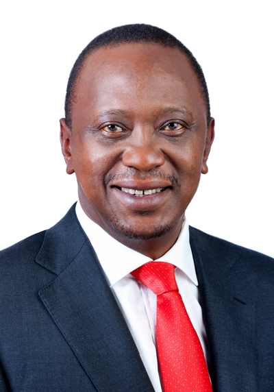 The President of the Republic of Kenya arrives for UK-Africa Investment Summit 2020