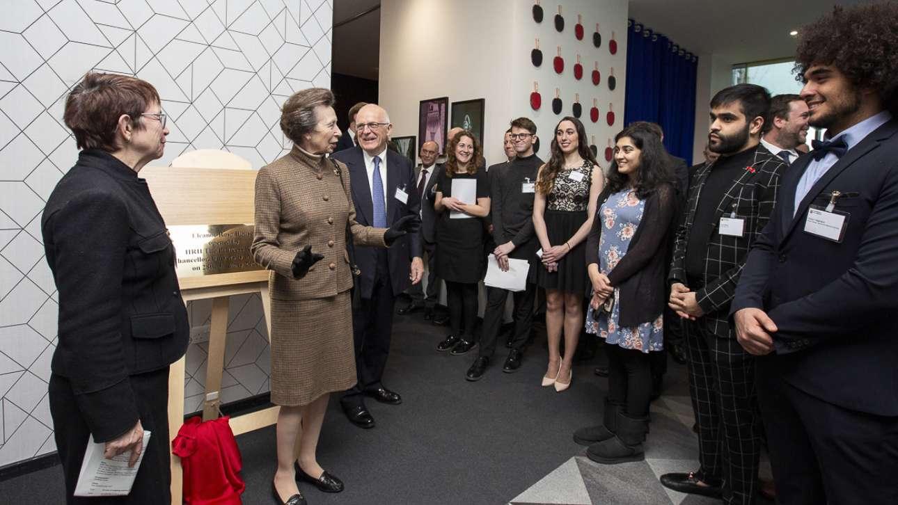 The Princess Royal opens Eleanor Rosa House, a University of London flagship development.