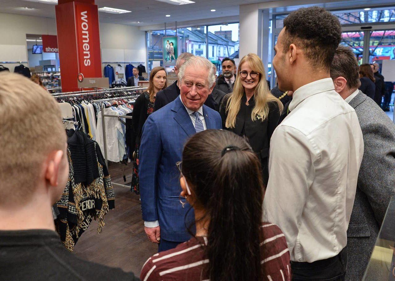 HRH Prince Charles visits T.K. Maxx, Tooting High Street
