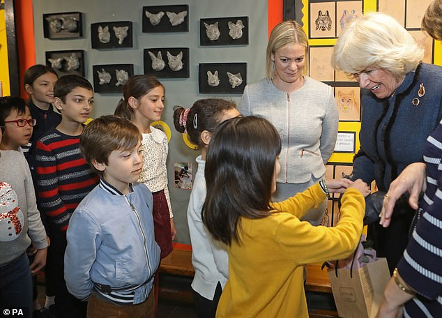 The Duchess of Cornwall visited Bousfield Primary School