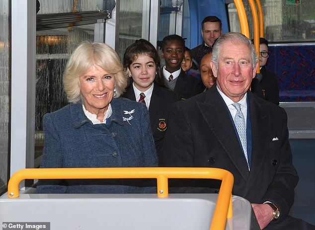 The Prince of Wales and The Duchess of Cornwall travelled by double-decker bus from Clarence House to Covent Garden