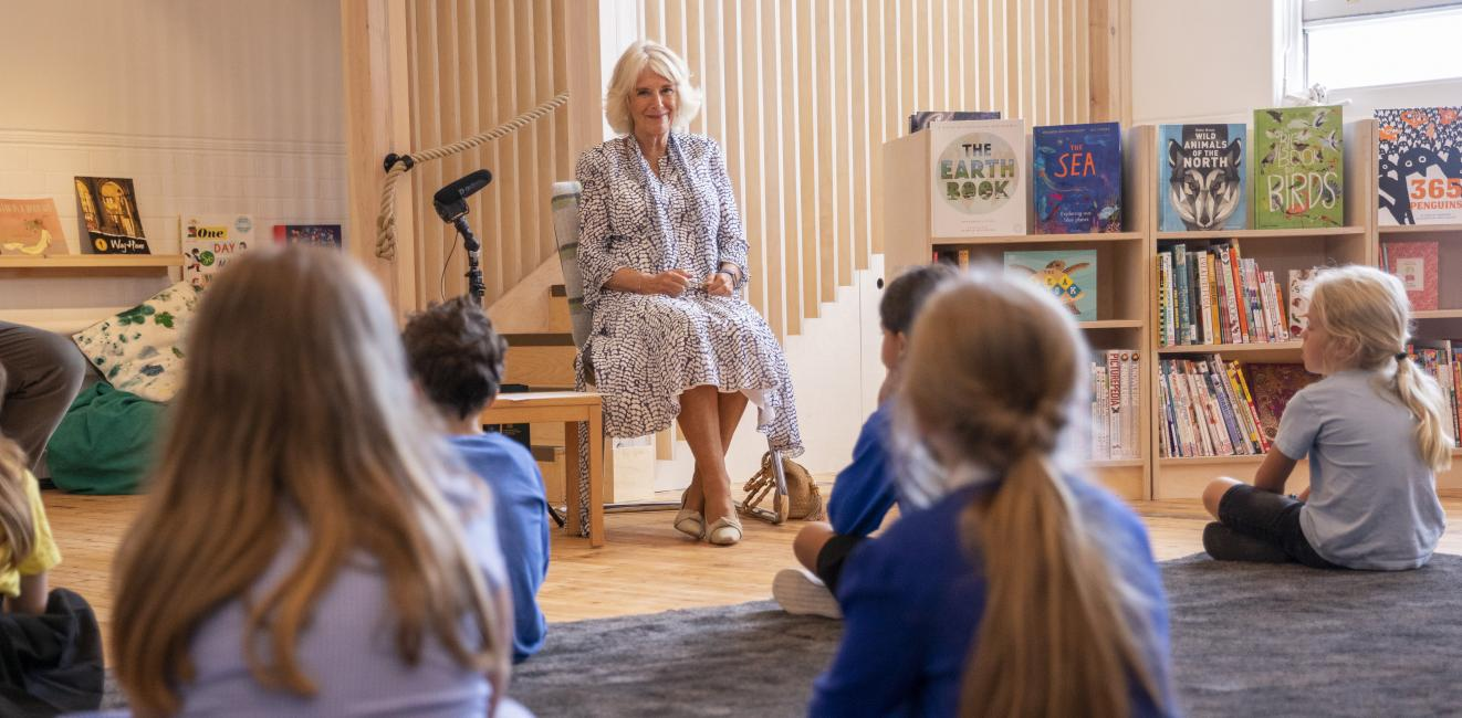 The Duchess of Cornwall visits Ivydale Primary School on International Literacy day