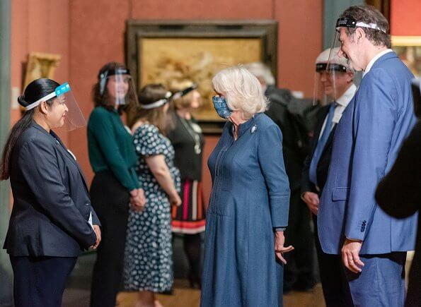 The Duchess of Cornwall visits the National Gallery to thank staff for COVID-19 response & reopening process