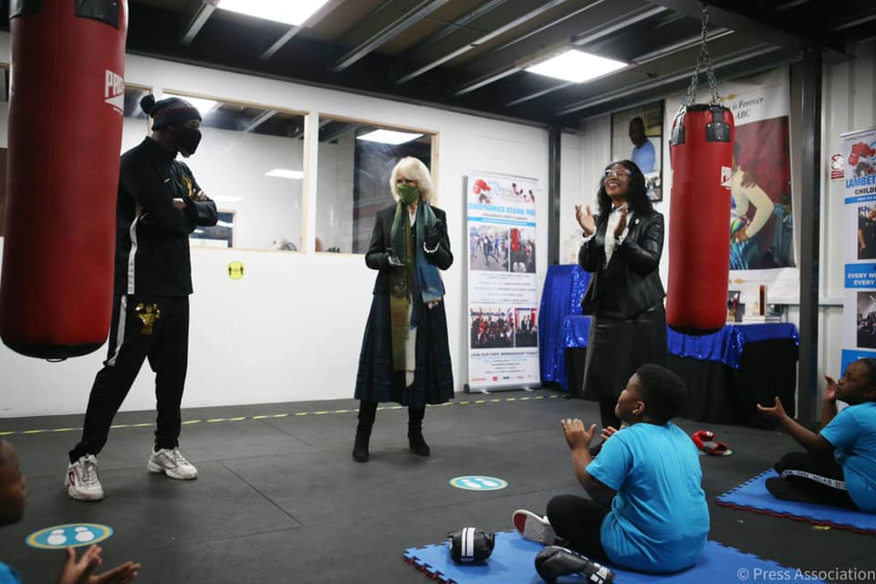 Her Royal Higness visits Dwaynamics Boxing Gym