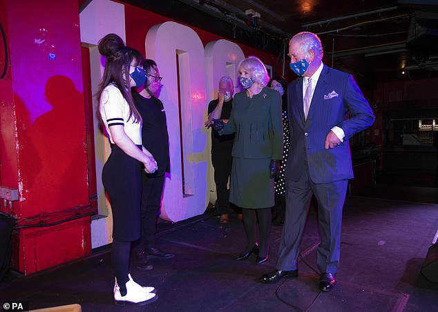 The Prince of Wales and the Duchess of Cornwall visit Soho Theatre and 100 Club