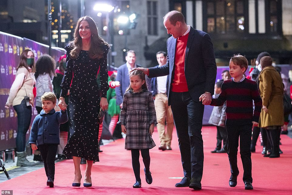 The Duke and Duchess of Cambridge attend Pantoland performance