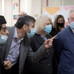 The Prince of Wales and The Duchess of Cornwall visit Finsbury Park Mosque vaccination centre