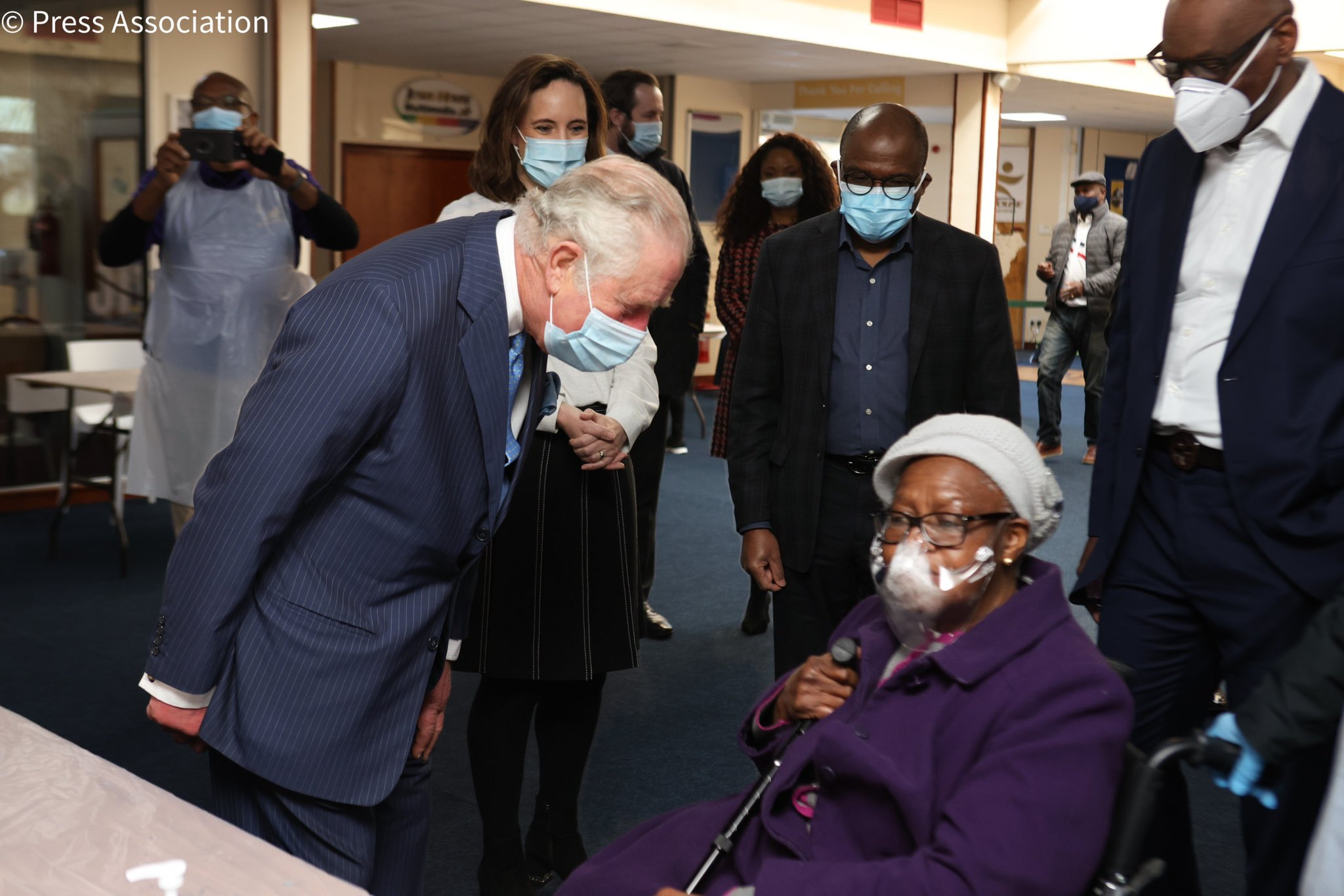 The Prince of Wales visits NHS vaccine pop-up clinic at Jesus House
