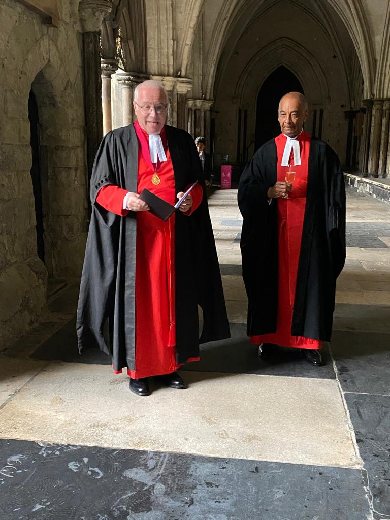 Lord-Lieutenant installed as High Bailiff of Westminster Abbey