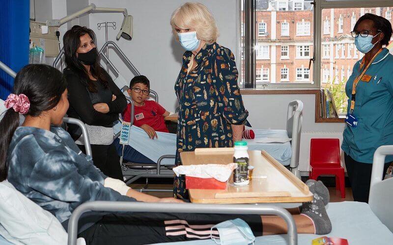 The Duchess of Cornwall visits the Whittington Hospital
