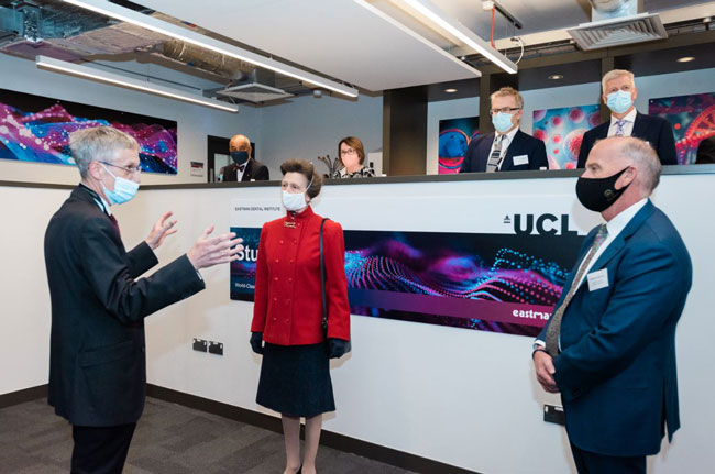 The Princess Royal opens the UCL Eastman Dental Institute