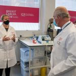 The Prince of Wales visits the Breast Cancer Now Research Centre