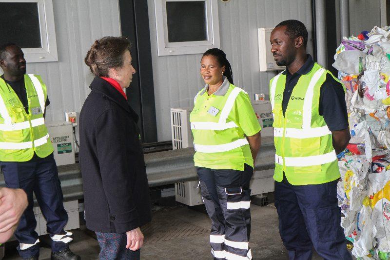 The Princess Royal visits waste management facility in Southwark