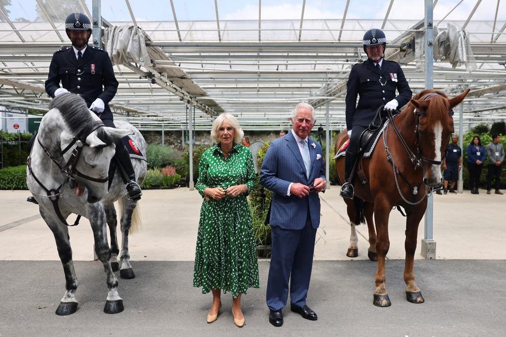The Prince of Wales and Duchess of Cornwall visit the Royal Parks