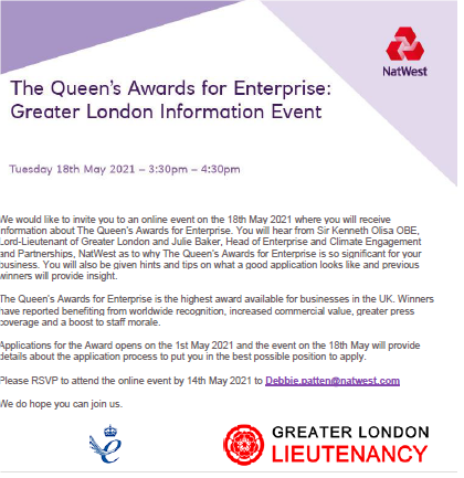 The Queen's Award for Enterprise: Greater London information Event